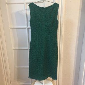 Carolina Herrera Dresses - CH Carolina Herrera green lace sheath dress 2